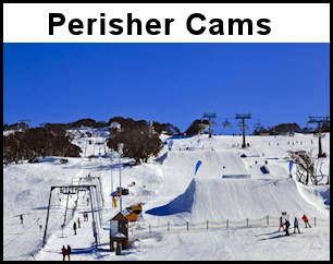 Perisher, Blue Cow and Guthega Snow Cams via The Shed Ski Hire